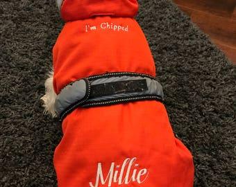 Personalised dog 2 in 1 coat