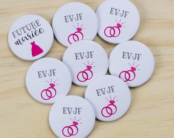 7 badges + 1 bride bachelorette party