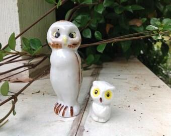 Vintage Owls Figurine - Set of 2