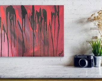 Shades Of Red 16x20 canvas