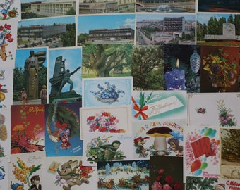 Postcards of USSR.A set of 38 pcs Soviet postcards, in Russian, vintage postcards, collectible #15