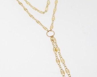 Sautoir or, collier Y, collier pompon, simple ou Double brin sautoir, Collier - or ou en argent Sterling de superposition