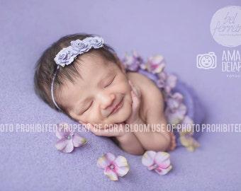 Flower Headband, Purple Headband, Purple Flower, Baby Headband, Newborn Headband, Photography Prop, Photo Props, Newborn Props