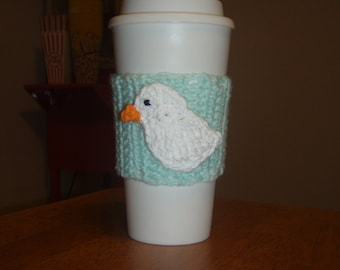 Easter Chick Coffee Cozy