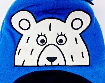 Bear Peeker Applique Design