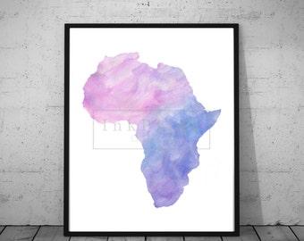 Printable Watercolor Africa