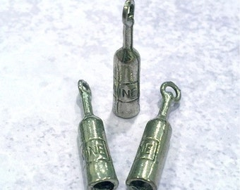 Wine Bottle - 4 pieces-(Antique Pewter Silver Finish)