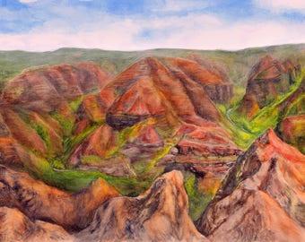 Waimea Canyon Kauai Painting Art Print
