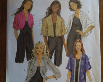 Butterick B5529, sizes varies, unlined jackets, UNCUT sewing patterns, craft supplies