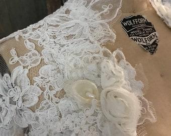 Lace Wedding Bolero- lined back
