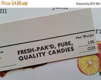ON SALE 1930's Antique Candy Shop Display Tags