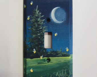 Single Switch Plate with Firefly design  Fireflies  Wall Plate