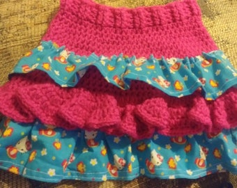 Crochet Skirt with Ruffles (pattern only)