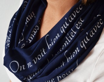 Little Prince Scarf, Book Scarf, Petit Prince Quote