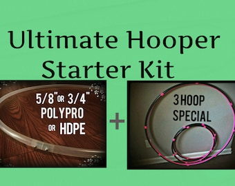 "4 Hoop Starter Kit - Dance & Exercise Hula Hoops Mini Polypro HDPE COLLAPSIBLE  5/8"" 3/4"" Full Body Workout"