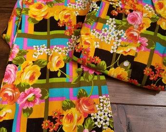 Vintage Pantsuit - Vintage Floral Pantsuit - Pantsuit - Retro Pantsuit - Mod Pantsuit - 60's Pantsuit - 70's Pantsuit - Small Pantsuit