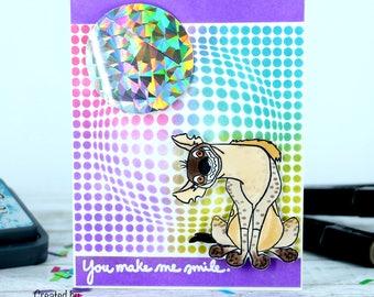 Funny Hyena Card - You Make me smile