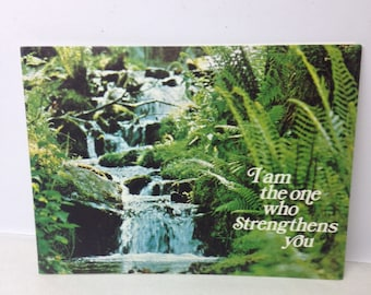 1960s get well card  - vintage prayer - vintage get well card - christian card - affirmation card - positivity card