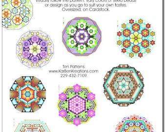 10 Beaded Bowl Patterns for Huichol-style Beading