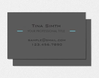 Printable Sleek and Clean Business Card