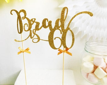 60th Birthday Cake Topper, 60th Birthday, Sixty, Custom Age, Name Celebration Cake Topper, Party decorations, Cake Decor, Personalised