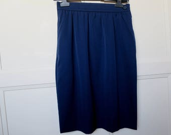 Vintage Givenchy Paris blue, long mid 80's skirt