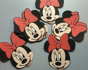 Minnie mouse confetti.