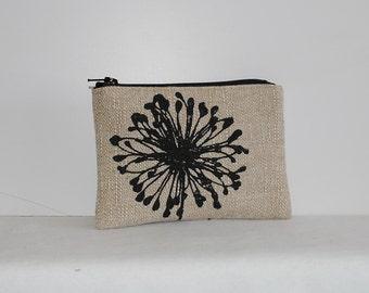 Little Zipper Pouch - Dandelion Black Denton