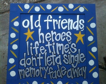 Widespread Panic hand painted sign 'Heroes""
