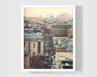 Paris Rooftops / Paris Print / Fine Art Photography / Living Room Decor / Romantic Photo Gift / Paris Art / Home Decor