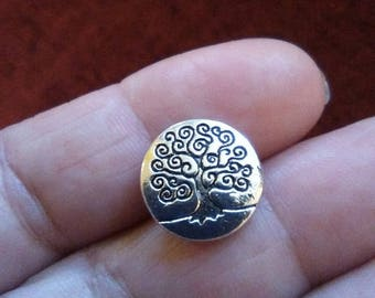 Tree of life buttons x5, buttons,pewter buttons,silver tone, metal buttons,craft,dressmaking,notions
