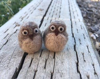 Small Needle Felted Owl Figurines Listing is for one owl