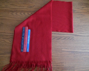 Ships Free!  SALE Valentine Red Scarf: Book Scarf, Book Nerd Gift, Back to School Gift, Literary Scarf, Book Scarf, Reader's Scarf