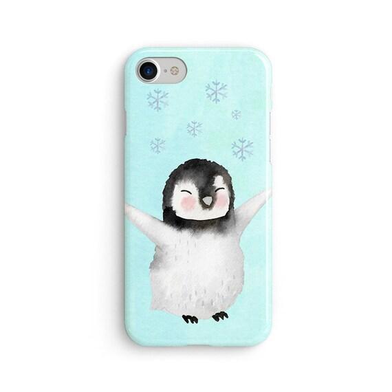 Cute happy penguin iPhone X case - iPhone 8 case - Samsung Galaxy S8 case - iPhone 7 case - Tough case 1P084