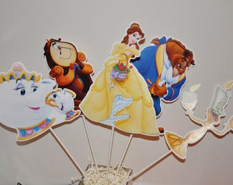 Beauty and the Beast Large Centerpiece toppers sets of 5