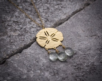 Sand dollar necklace sea urchin necklace sea necklace Beach necklace ocean charm gift under 50 gift for her everyday necklace