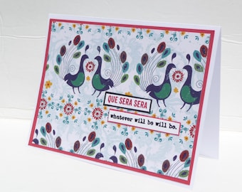 All Occasion Greeting Card - Handmade Paper Card with Coordinating Embellished Envelope