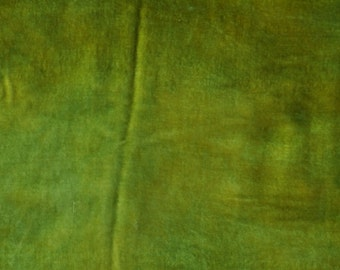 Velvet, hand-dyed silk-backed rayon velvet, Avocado Green