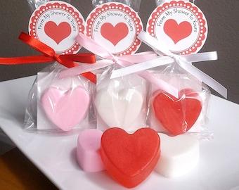 Heart Bridal Shower Favors - Heart Wedding Favors, Heart Favors, Heart Baby Shower Favors, Valentines Day Wedding Favors Soap - Set of 10
