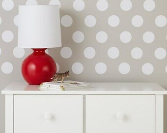 Dots Wall Decal, Peel and Stick Dots, Even Polka Dot Wall Decals, Bedroom Dots, bedroom polka dot sticker, Polkadot walls, Dot Decals, d47