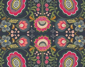 Indie Folk, Khokhloma Gloom, Pat Bravo for Art Gallery Fabrics, Canvas 1/2 yard