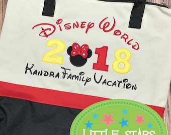 Disney Tote bag for Vacation, Cruise or Gift - Embroidered and Personalized