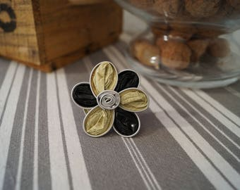 Ring Nespresso flower yellow and black