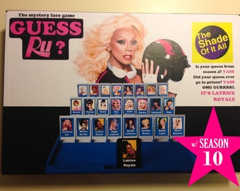 Guess Ru? Game - Rupaul's Drag Race Guess Who (Printable Download)