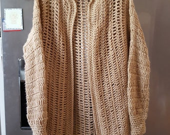 Crochet Long Sweater Coat