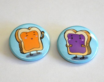 Peanut Butter and Jelly Button