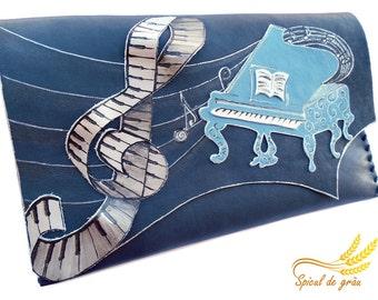 Music bag Piano clutch Musician bag Piano player gift Music teacher gift Music lover gift Musical gift Original clutch Unique clutch bag