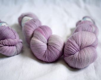 SALE - Lace yarn - Extra Fine Merino+Silk - 100 grams - 1200m/1312yards - OOAKpink