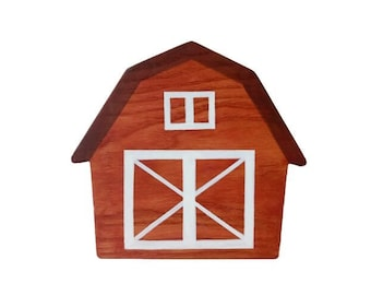 Wooden Barn toy Barnyard playset Toy for toddlers Waldorf Nature table Wooden toys Gift idea Farmer toys Pretend farm