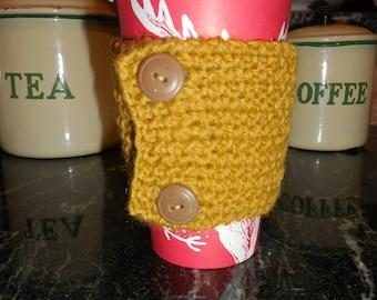 Coffee Sleeve...Mug Hug...Coffee Sweater..Jubejubeknits...No Heat ...No Burns...Hand Knit...Comfy Cozy Drink.